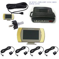 LONGCAN car parking sensor LED Display Car Vehicle Reverse Backup Radar System with 4 Parking Sensors -- Want additional info? Click on the image. (This is an affiliate link and I receive a commission for the sales)