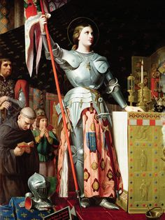 Jean-Auguste-Dominique Ingres - Joan of Arc at the Coronation of King Charles VII Joan D Arc, Saint Joan Of Arc, St Joan, Jeanne D'arc, Roi Charles, King Charles, Women In History, Art History, French History
