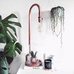 Copper Lamp Instagram - leannelimwalkerhome