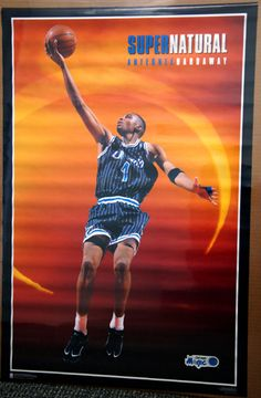 Anfernee Penny Hardaway SUPERNATURAL Vintage Orlando Magic 1995 Costacos Poster - Sold for $19.99 July 2013