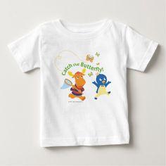 Pablo & Tyrone - Catch That Butterfly. Baby, bebé. Producto disponible en tienda Zazzle. Vestuario, moda. Product available in Zazzle store. Fashion wardrobe. Regalos, Gifts. #camiseta #tshirt