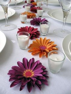 Simple table decor.