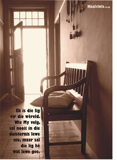Een van my man se mooiste fotos! Die woorde en foto pas so mooi! Afrikaans Quotes, Believe In God, Jesus Quotes, Words, Bible, Van, Bling, Magic, Bread