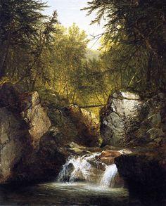 """Bash Bish Falls,"" John Frederick Kensett, 1855, oil on canvas, 36 x 29"", National Academy of Design."