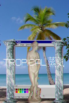Tropical 蒸気 Follow http://capersnvapors.tumblr.com/ for more vaporwave art