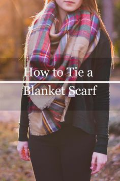 Your Typical Prep: How To Tie a Blanket Scarf