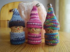 Crochet Patterns Ravelry Ravelry: Crochet Korknisse pattern by Annaboo& House Cotton Reel Craft, Knitting Patterns, Crochet Patterns, Pinterest Crafts, Diy Crafts To Do, Wine Cork Crafts, Crochet Bracelet, Fairy Dolls, Christmas Knitting