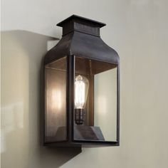 tekna.be - Pagode weathered brass clear glass indoor outdoor light  CH: future front door light?
