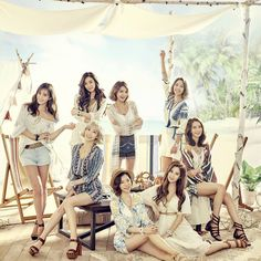 Standing left to right:Yuri♡Tiffany♡Hyoyeon♡Sooyoung Sitting left to right:Taeyeon♡Sunny♡Seohyun♡Yoona Snsd, Sooyoung, Yoona, Yuri, Girls Generation, South Korean Girls, Korean Girl Groups, Marie Claire, Oppa Gangnam Style