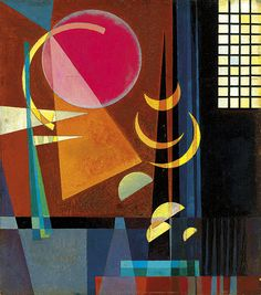 Scharf-Ruhig  (1927), Wassily Kandinsky, from http://catmota.com, #abstract #art #geometric