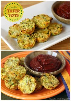 Zucchini Tater Tots - get your kids to eat their veggies with this sneak and delicious side dish! | cupcakesandkalechips.com ! gluten free
