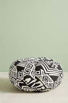 Slide View: 5: WHIT Geo-Printed Pouf
