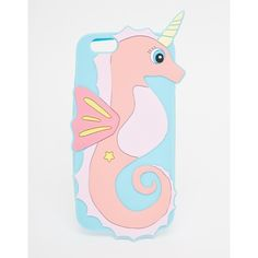 ASOS Unicorn Seahorse Jelly iPhone 6 and 6s Case (26 CAD) ❤ liked on Polyvore featuring accessories, tech accessories, multi and asos