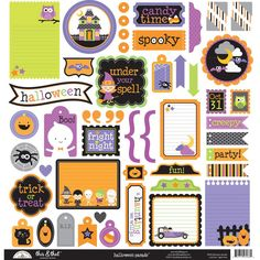 This & That Stickers, Doodlebug Design- Halloween Parade