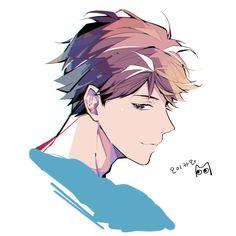 Image about anime in Haikyuu! Anime Boys, Manga Anime, Cute Anime Guys, Anime Art, Oikawa Tooru, Iwaoi, Kageyama, Hinata, Haikyuu Ships