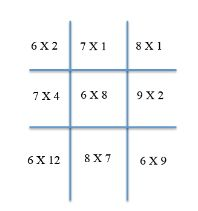 Help your child practice math skills with this Math Tic Tac Toe. Free printable tic tac toe form.