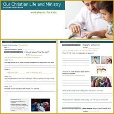 Our Christian life and ministry worksheets for kids. Great for keeping the kids focused during the meetings. https://www.face book.com/groups/1618386705155521/