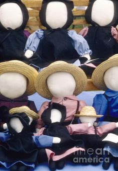 """One of the most often cited reasons that Amish dolls do not have faces is that the Biblical book of Deuteronomy prohibits the creation of graven images. A common story that is part of the doll making tradition is that a young Amish girl was given a doll by her teacher. When she brought it home, her father replaced the doll's head with an old sock. He told her that """"only God can make people."""" Since then, according to tradition, all Amish children have played with rag dolls that had no faces."""