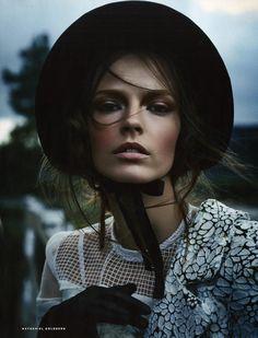 Mina Cvetković by Nathaniel Goldberg for Vogue Russia March 2015