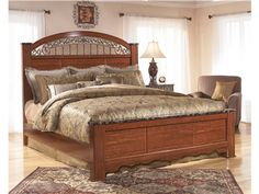 """Shop for Signature Design King Poster Rails, B105-99, and other Bedroom Bed Rails at Trivett's Furniture in Fredericksburg, VA. The """"Fairbrooks Estate"""" bedroom collection features warm finishes and ornate detailing to create a furniture collection that is sure to enhance your bedroom decor with an inviting traditional design."""
