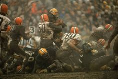 Cleveland Browns Vs Green Bay Packers, Green Bay, WI, Art Rickerby for LIFE, 1966