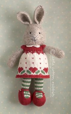 Little Cotton Rabbits - Agnethe. This website sells a whole range of cute bunnies and different dresses but also sell the patterns..
