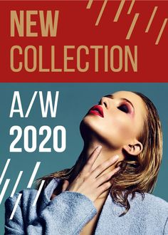 New Collection Promotion Woman with Bright Make-Up — Create a Design Flyer Design, Ecommerce, Promotion, Make Up, Bright, Templates, Woman, Create, Poster