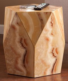 Look at this #zulilyfind! Tan Marble Roxbury Accent Table #zulilyfinds