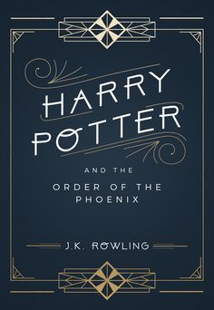 """""""Book cover redesign: Harry Potter meets art deco """""""