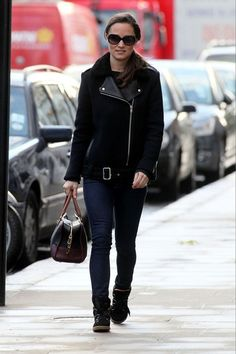 Pippa Middleton wearing our MIELLEUSE coat and our sneakers AMANDINE (FW12)