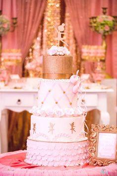 Ballerina cake from a Pink Ballerina Birthday Party on Kara's Party Ideas | KarasPartyIdeas.com (25)