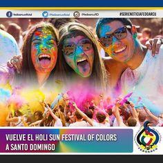 Vuelve el Holi Sun Festival of Colors a Santo Domingo.  El año pasado el Holi Sun Festival of Colors en Santo Domingo fue un éxito total en el que más de 5 mil personas bailaron cantaron gozaron y se llenaron de colores y este año regresa la fiesta más colorida con actividades múltiples de diversión donde el colorido será el protagonista.  La actividad tendrá lugar el próximo sábado 17 de septiembre en el Jardín Botánico Nacional bajo la producción de Sugar Events y EF Events a beneficio de…