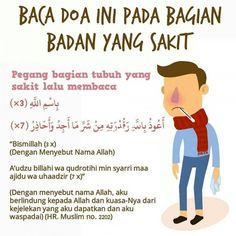 BACA DOA INI PADA BAGIAN ANGGOTA TUBUH YANG SAKIT Pray Quotes, Quran Quotes Inspirational, Islamic Love Quotes, Muslim Quotes, Life Quotes, Hijrah Islam, Doa Islam, Reminder Quotes, Self Reminder
