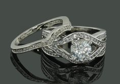 Extravagant 14k White Gold White Topaz Diamond by Jewelrybydicos, $1635.00