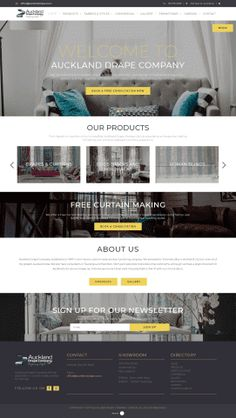 Business Website, Design Development, Auckland, Curtains, Insulated Curtains, Blinds, Draping, Drapes Curtains, Sheet Curtains