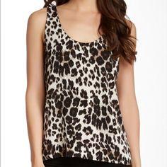 DVF snow cheetah silk top NWT SZ small Silk snow cheetah top Diane von Furstenberg Tops Blouses