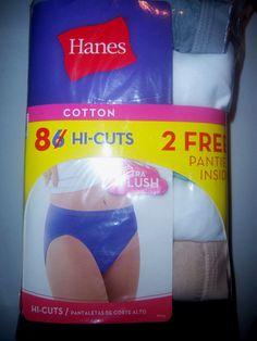4 Pair Womens Size 9 Just My Size Nylon Hi - Cut Underwear Multi ...