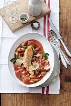 Kaninchen mit Bohnen-Tomaten-Potaufeu Foto © Thorsten Suedfels für ARD Buffet Magazin/burdafood.net