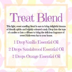 "Halloween ""Treat"" Aromatherapy blend"