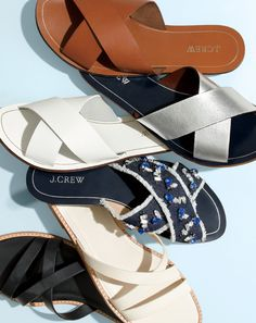 J. Crew Cyprus Sandals & Vachetta Crisscross Sandals