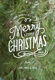 Merry Christmas Printable Tags for The Kitchn's Cookies PhotoType Free Font Holiday Gift Guide For Creatives - Love the typography to put on top of a Christmas card photo