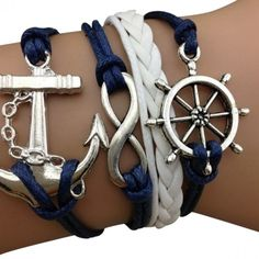 Blue Sailor Arm Party Bracelet