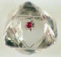 Corundum   Corundum Var Ruby Inclusion in Diamond / Mineral ...   Crystal Beauty