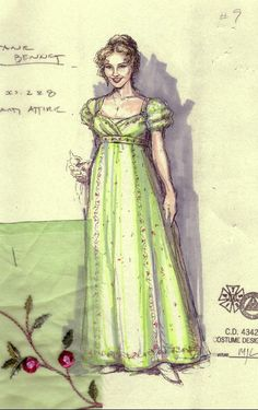Historical Costume, Historical Clothing, Jane Austen, Regency Dress, Regency Era, Costume Design Sketch, Vintage Gowns, Victorian Dresses, Victorian Gothic