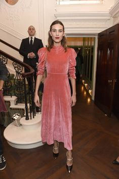 Alexa Chung attends as Tiffany Co partners with British Vogue Edward Enninful Steve McQueen Kate Moss and Naomi Campbell to celebrate fashion and...