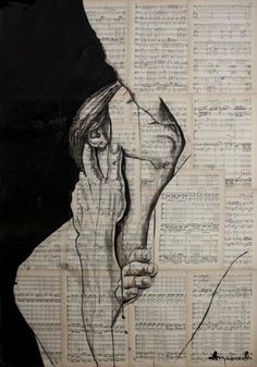 Pinta con tinta, café o vino para imprimir más movimiento y emociones en su trabajo.