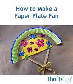 How to Make a Paper Plate Fan A simple paper plate coloring and sticker craft for young hands to create a cooling fan. This is a guide about how to make a paper plate fan. The post How to Make a Paper Plate Fan appeared first on Paper Ideas. Summer Crafts For Toddlers, Summer Camp Crafts, Diy Crafts For Girls, Toddler Crafts, Summer Activities, Flower Crafts Kids, Paper Plate Crafts For Kids, Craft Stick Crafts, Paper Crafts