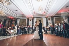 First dances during a wedding reception at the Belvedere Hotel. Captured by NYC wedding photographer Ben Lau.