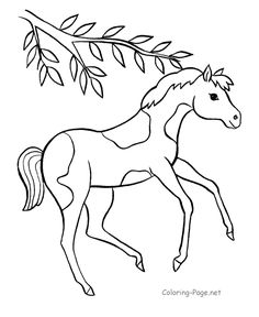 Horse coloring pages | Lesson Plan: Chinese New Year | Pinterest ...