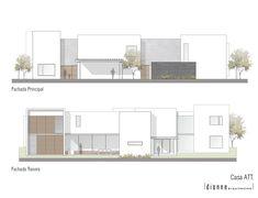 Plans Architecture, Architecture Concept Drawings, Architecture Visualization, Architecture Design, Design Villa Moderne, Modern Villa Design, Conception Villa, House Plans Mansion, Architectural Floor Plans